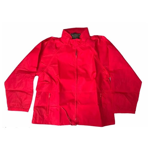 VTG Eddie Bauer Rain Coat Jacket Lightweight Hood